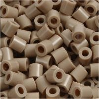 Fuse Beads, medidas 5x5 mm, medida agujero 2,5 mm, medium, beige (32248), 6000 ud/ 1 paquete