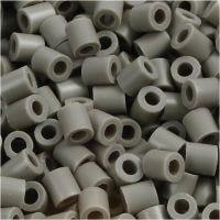 Fuse Beads, medidas 5x5 mm, medida agujero 2,5 mm, medium, colores ceniza (32226), 6000 ud/ 1 paquete
