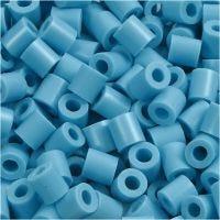 Fuse Beads, medidas 5x5 mm, medida agujero 2,5 mm, medium, turquesa (32256), 1100 ud/ 1 paquete