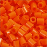 Fuse Beads, medidas 5x5 mm, medida agujero 2,5 mm, medium, naranja transparente (32233), 1100 ud/ 1 paquete