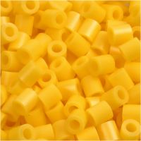 Fuse Beads, medidas 5x5 mm, medida agujero 2,5 mm, medium, amarillo (32227), 6000 ud/ 1 paquete