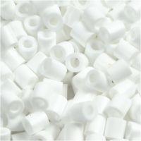 Fuse Beads, medidas 5x5 mm, medida agujero 2,5 mm, medium, blanco (32221), 1100 ud/ 1 paquete