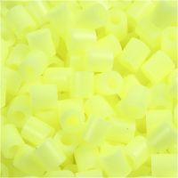 Fuse Beads, medidas 5x5 mm, medida agujero 2,5 mm, medium, amarillo pastel (32244), 6000 ud/ 1 paquete