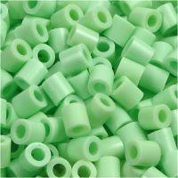 Fuse Beads, medidas 5x5 mm, medida agujero 2,5 mm, medium, verde pastel (32252), 1100 ud/ 1 paquete