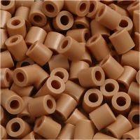 Fuse Beads, medidas 5x5 mm, medida agujero 2,5 mm, medium, marrón claro (32260), 1100 ud/ 1 paquete