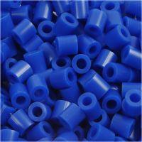 Fuse Beads, medidas 5x5 mm, medida agujero 2,5 mm, medium, azul oscuro (32232), 6000 ud/ 1 paquete
