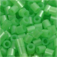 Fuse Beads, medidas 5x5 mm, medida agujero 2,5 mm, medium, verde perla (32240), 1100 ud/ 1 paquete