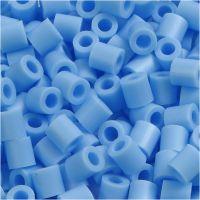 Fuse Beads, medidas 5x5 mm, medida agujero 2,5 mm, medium, azul pastel (32224), 6000 ud/ 1 paquete