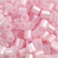 Fuse Beads, medidas 5x5 mm, medida agujero 2,5 mm, medium, rosado perlado (32259), 1100 ud/ 1 paquete