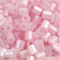 Fuse Beads, medidas 5x5 mm, medida agujero 2,5 mm, medium, rosado perlado (32259), 6000 ud/ 1 paquete