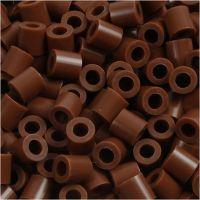 Fuse Beads, medidas 5x5 mm, medida agujero 2,5 mm, medium, chocolate (32249), 6000 ud/ 1 paquete