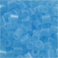 Fuse Beads, medidas 5x5 mm, medida agujero 2,5 mm, medium, azul neón (32235), 6000 ud/ 1 paquete