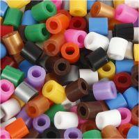 Cuentas Fuse con agujero, medidas 5x5 mm, medida agujero 2,5 mm, medium, colores estándar, 1100 stdas/ 1 paquete