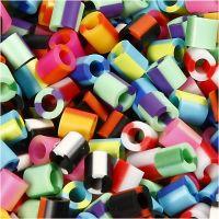Fuse Beads, medidas 5x5 mm, medida agujero 2,5 mm, medium, raya, 1100 stdas/ 1 paquete