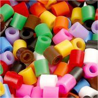 Fuse Beads, medidas 5x5 mm, medida agujero 2,5 mm, medium, colores estándar, 6000 stdas/ 1 paquete