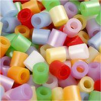 Fuse Beads, medidas 5x5 mm, medida agujero 2,5 mm, medium, madre perla, 20000 stdas/ 1 cubo