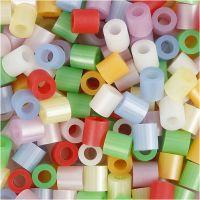Fuse Beads, medidas 5x5 mm, medida agujero 2,5 mm, medium, madre perla, 5000 stdas/ 1 cubo