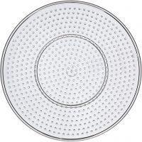 Base con clavijas, Círculo grande, dia: 15 cm, transparente, 1 ud