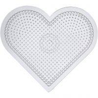 Base con clavijas, corazón grande, A: 15 cm, transparente, 10 ud/ 1 paquete
