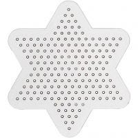 Base con clavijas, estrella pequeña, dia: 10 cm, 10 ud/ 1 paquete