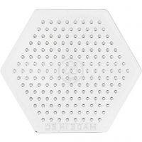 Base con clavijas, hexágonos pequeños, A: 7,5 cm, 10 ud/ 1 paquete