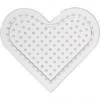 Base con clavijas, corazón pequeño, A: 8 cm, 10 ud/ 1 paquete