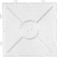 Base con clavijas, cuadrado grande , medidas 15x15 cm, transparente, 1 ud