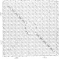 Placa de clavijas, cuadrado grande, medidas 15x15 cm, JUMBO, transparente, 1 ud
