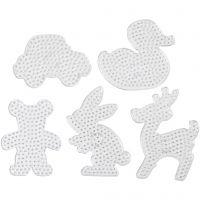 Tableros de clavijas, medidas 16x19,5-19x24 cm, JUMBO, transparente, 5 ud/ 1 paquete
