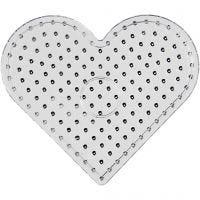 Tableros de clavijas, JUMBO - corazón, JUMBO, transparente, 5 ud/ 1 paquete