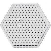 Tableros de clavijas, JUMBO - hexágono, JUMBO, transparente, 5 ud/ 1 paquete