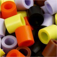 Fuse Beads, medidas 10x10 mm, medida agujero 5,5 mm, JUMBO, mix de otoño, 2450 stdas/ 1 cubo