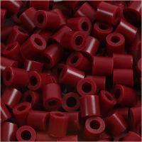 PhotoPearls, medidas 5x5 mm, medida agujero 2,5 mm, burdeos (4), 6000 ud/ 1 paquete