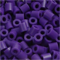PhotoPearls, medidas 5x5 mm, medida agujero 2,5 mm, violeta oscuro (11), 6000 ud/ 1 paquete