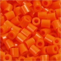 PhotoPearls, medidas 5x5 mm, medida agujero 2,5 mm, naranja transparente (13), 6000 ud/ 1 paquete