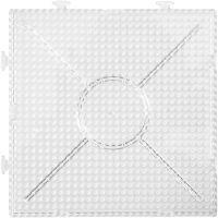 Placa, medidas 15x15 cm, transparente, 2 ud/ 1 paquete