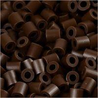 PhotoPearls, medidas 5x5 mm, medida agujero 2,5 mm, marrón oscuro (2), 1100 ud/ 1 paquete