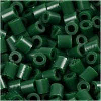 PhotoPearls, medidas 5x5 mm, medida agujero 2,5 mm, verde oscuro (9), 1100 ud/ 1 paquete