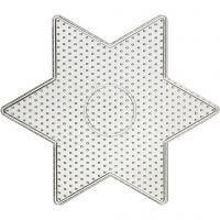 Base con clavijas, estrella grande, medidas 15x15 cm, 10 ud/ 1 paquete