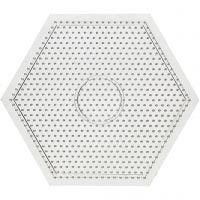 Base con clavijas, large hexagon, medidas 15x15 cm, 10 ud/ 1 paquete