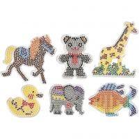 Chinchetas/marcadores, animales, medidas 10x11-13x16,5 cm, 6 ud/ 1 paquete