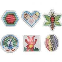 Chinchetas/marcadores, geométrico, medidas 7x7,5-10,5x9,5 cm, 6 ud/ 1 paquete
