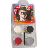 Pintura facial al agua - Motif Set, Drácula, surtido de colores, 1 set