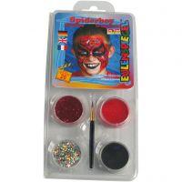 Pintura facial al agua - Motif Set, Spiderman, surtido de colores, 1 set