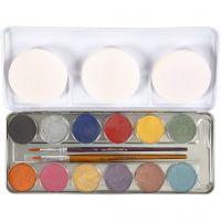 Pintura facial a base de agua, madre perla, 12 color/ 1 set