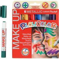 Maquillaje Playcolor, Metálica, surtido de colores, 6x5 gr/ 1 paquete
