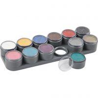 Paleta de pintura facial a base de agua, surtido de colores, 12x15 ml/ 1 ud