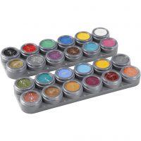 Paleta de pintura facial a base de agua, surtido de colores, 24x2,5 ml/ 1 ud