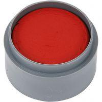 pintura facial en base a agua, rojo transparente, 15 ml/ 1 bote