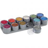 Paleta de pintura facial a base de agua, madre perla, 12x15 ml/ 1 ud
